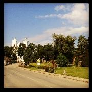 mosėdis ir jo bažnyčios bokštai